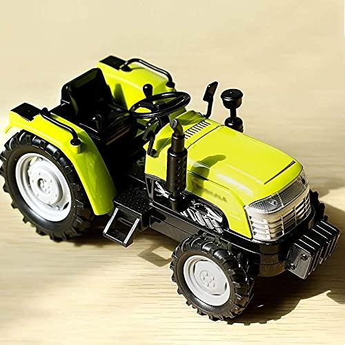 Modelo de coche de juguete de aleación 1:32 Modelo de coche de aleación Simulación Sonido Tractor Juguete Tire hacia atrás Coche de juguete agrícola para niños Coche de ingeniería de aleación Juguete
