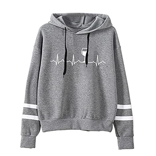 Toeava Hoodies for Women,2021 Butterfly Printing Pockets Hooded Sweatshirts Casual Long Sleeve Pullover Hoodie Blouse