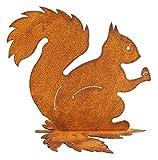 Rost Gartenfigur Eichhörnchen 20 cm Edelrost Gartendeko