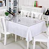 ybaymy Transparente Tischdecke Folie 1 x 2m, 2 mm Dicker Tischschutz für den Esstisch, durchsichtiger Tischdeckenschutz aus Kunststoff, Durchsichtige Tischdecken-Tischunterlage - 6
