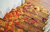 GiBot 400 Stück sortierte farbige Ahornblätter künstliche Herbstkunst Ahornblätter Tischdeko für Halloween, Thanksgiving, Hochzeiten, Zuhause, Innen- und Außendekoration - 4