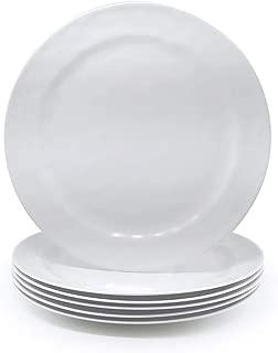 white melamine salad plates