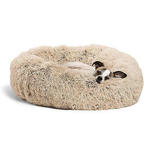 AAPLK hondenbed, hondenbed, hondenbed, hondenbed, hondenkussen, hondenkussen, warmtekussen, OD 70 cm, Lichtgeel