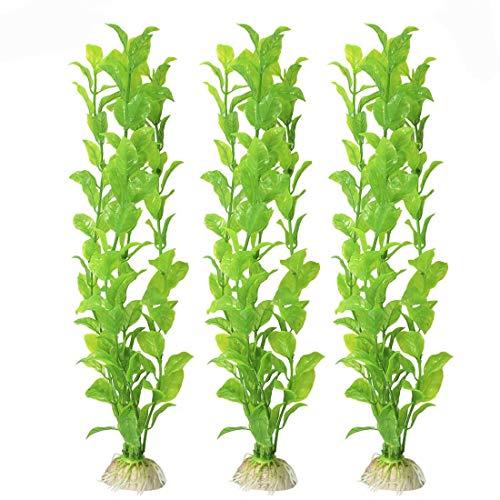 Meiso bellissimo set di piante da acquario in plastica realistiche e attraenti per il vostro serbatoio non tossiche e sicure per tutti i pesci e animali domestici