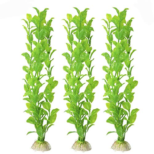 MeISO 3PC Plastique decoration aquarium Plante...
