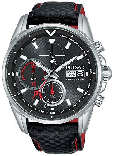 Pulsar Quarz Uhr mit Leder Armband 8431242963518