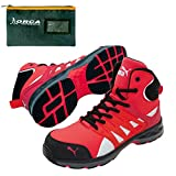 [プーマ] 安全靴 ヴェロシティ 2.0 レッド ミッド 25.0cm 整理仕分けバッグ付 63.343.0