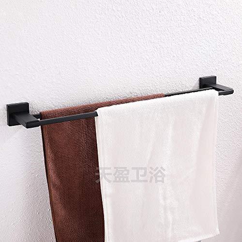 304 RVS Handdoekenrek Zwart Handdoekenrek Dubbele Paal Vierkante Buis Handdoekenrek