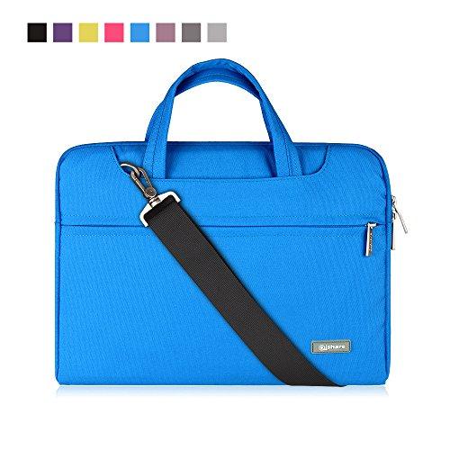 Qishare 11,6'' 12'' Laptoptasche multifunktionale Laptoptasche für Damen Herren Schüler, Verstellbarer Schultergurt und unterdrückter Griff, tragbarer Dokumentenordner (11,6-12-Zoll Blau)
