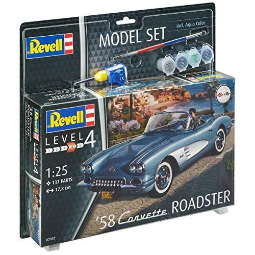 Revell 67037 58 Corvette Roadster Automodell Bausatz 1:25