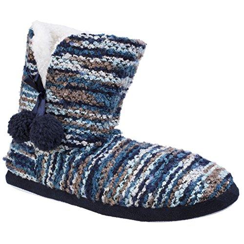 Divaz Zapatillas de estar Por casa Estilo Botín Modelo Vienna Para Mujer (S/Azul)