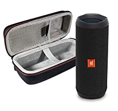 This Bundle Includes: (1) JBL FLIP 4 Portable Bluetooth Speaker and (1) Portable Hardshell Case A full–featured IPX7 waterproof portable Bluetooth speaker with surprisingly powerful sound Up to 12 hours of play time with a wired connection, and 2-6 h...