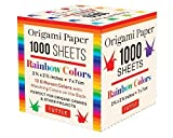 Origami Paper Rainbow Colors 1,000 Sheets 2 3/4 in (7 CM): 12 Solid Colors Perfect for Modular Origami