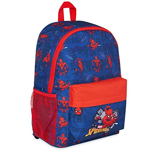 Marvel Sac A Dos Enfant Garçons, Spiderman Cartable Garcon Primaire, Affaire Scolaire Sac à Dos, Fournitures Scolaires Sac de Voyage