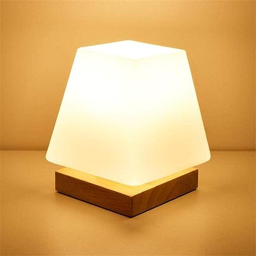 Veilleusechambre à Coucher Lampe De Nuit Lumière Simple Créatif Verre Nordique Plug-In économie D'énergie Lumière Chaude Mini Bébé Lampe De Chevet