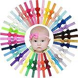 40 diademas elásticas para el pelo con lazo de grogrén, de 7 cm, para bebés y niñas recién...