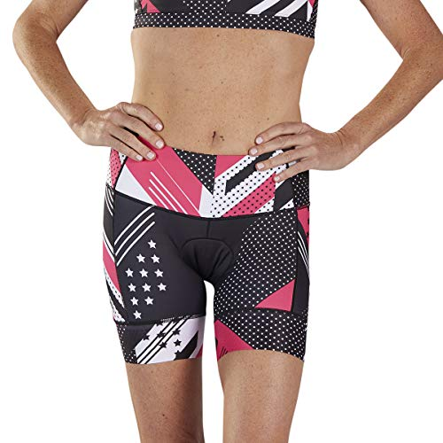 Zoot Women's LTD 6-Inch Tri Shorts - High Performance Triathlon Shorts with 2 Pockets (Team '19, X-Large)