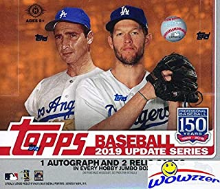 2019 Topps Update MLB Baseball ENOURMOUS Factory SEALED HOBBY HTA JUMBO Box with 460 Cards, 2 SILVER PACK & (3) AUTO or RELICS! Last Year's Version Increased FIVE-FOLD in Value! WOWZZER!