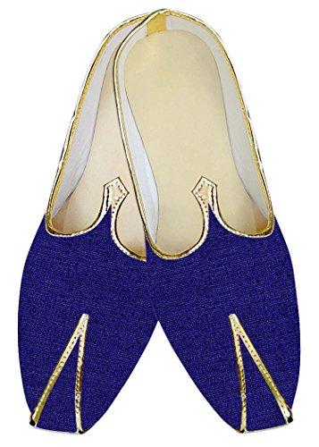 INMONARCH Azul Hombres Zapatos de Boda Novios MJ014147S11H 45 Azul