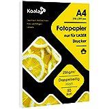 Koala Fotopapier Laserdrucker Matt Doppelseitig bedruckbarer A4 50 Blatt