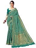 HAOK Sarees For Women's Banarasi Art Silk Indian Woven Sari | Regalo de boda tradicional con blusa no cosida