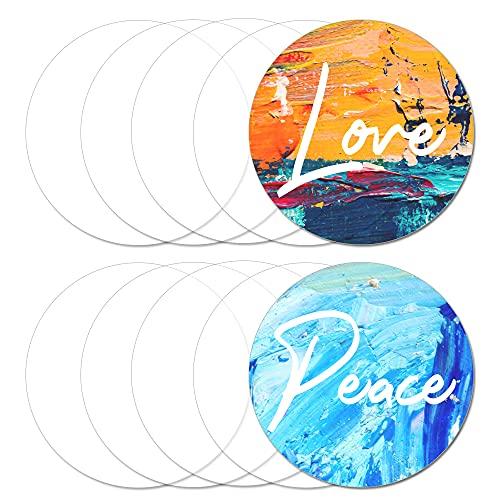 5 Stück transparente Runden Acrylglas Platte,Runde Acrylplatten,Acrylglas Zuschnitt Plexiglas für DIY Projekte und Basteln