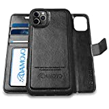 AMOVO iPhone 11 Pro Max Wallet Case [2 in 1 Detachable] Vegan...
