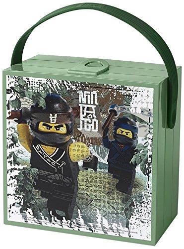 LEGO NINJAGO Movie Brotdose mit Tragegriff, Tragbare Aufbewahrungsbox, Sand Grün