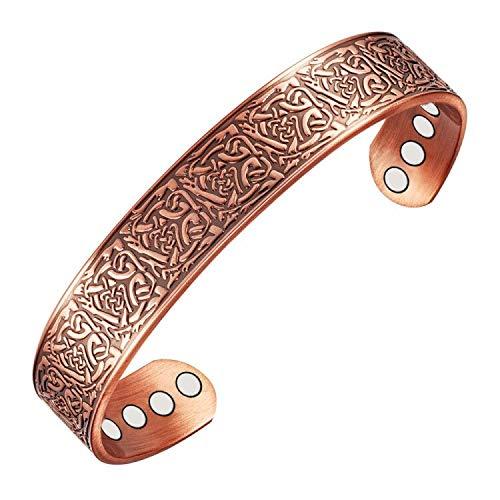 bracciale uomo rame Wollet Jewelry - Bracciale rigido magnetico in rame