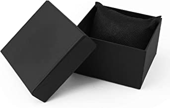 Sdootjewelry Single Watch Gift Boxes, 12 Pack Jewelry Bangle Bracelet Watch Boxes for Men and Women-Black