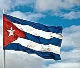 BANDERA CUBA GRANDE 150 Cm 1,5 Metros en TELA con GUIA bandera cubana