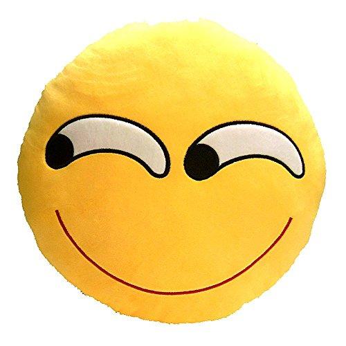 Koedu Emoji rond-Coussin Smiley-Expressions-Peluche-Peluche-Lunettes de soleil (B)