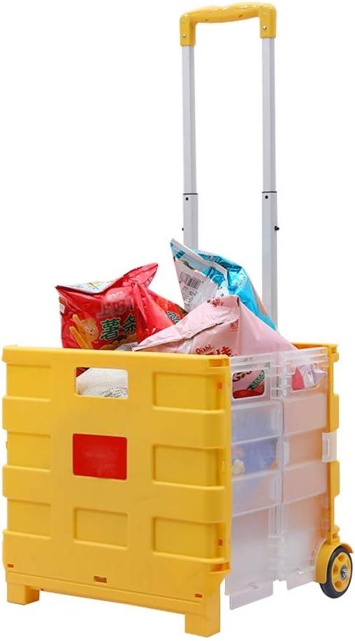 LQIAN Kitchen Island Minneapolis Mall Foldable Plastic Shopping Raleigh Mall - Cart Lightweigh