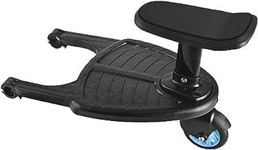 2 In 1 Buggyboard Met Zitje, Comfortabel Kinderwagenpedaal Met Meerijdplankje, Universeel Verstelbaar Kinderwagenbord, Pas...