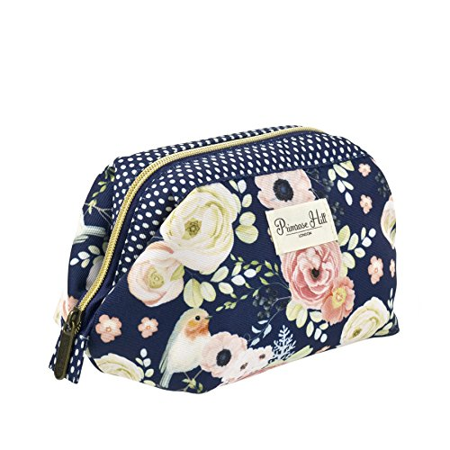 Primrose Hill Roses and Robins Collection Cosmetic Frame Clutch