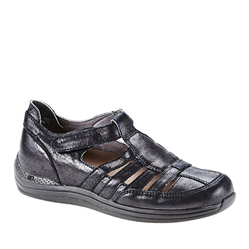 Drew Women's Ginger Fisherman Shoe,Dusty Black Leather,US 6.5 N