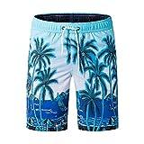 Shorts Pantalones Cortos Hombres Pantalones Cortos De Playa para Hombre Pantalones Cortos con Estampado De Secado Rápido Hombre Bermudas XXL Blueasiansize