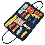 Tablero de juguetes para niños pequeños, tablero sensorial para desarrollar habilidades básicas y habilidades motoras finas, juguete preescolar para niños bolso