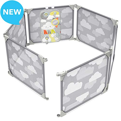Buy Skip Hop Baby Playpen: Expandable or Wall Mounted Play Yard with Clip-On Play Surface, Silver Li...