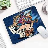 Base Antiscivolo in Gomma Tappetino Mouse,Astronauta, uomo di pensiero futuristico con smartphone...