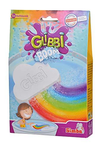 Simba 105953451 Glibbi Boom Badewannenspielzeug, Badebombe, Wolkenform, Magischer Regenbogen Effekt, ab 3 Jahren
