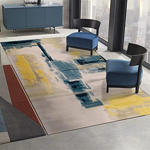 """Kunsen Muebles Sala de Estar Decoracion Bebe habitacion Alfombra de salón Beige Abstracto, Resistente al Desgaste y Lavable Centro de Mesa Decorativo Comedor 160X230CM 5ft 3"""" X7ft 6.6"""""""