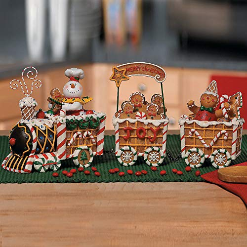 The Gingerbread Express Train - 3 Piece Set - Christmas Home Decor
