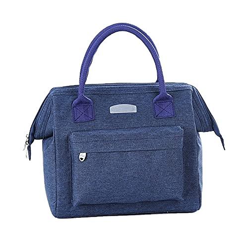 Nenka Bolsa isotérmica plegable de 9 L, bolsa isotérmica, bolsa para el almuerzo, bolsa para camping, diseño de varios bolsillos, resistente al agua y duradera (azul)