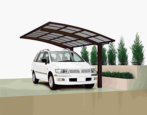 XIMAX Aluminium Design-Carport Portoforte Tandem-Ausführung Typ 60 Mattbraun