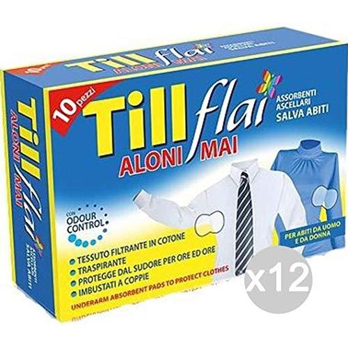 Till Flai Set 12 X 10 Assorbente Ascellare Igiene Intima Femminile, Multicolore, Unica