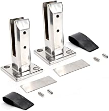 Stainless Steel Glass Pool Fence Post Balustrade Railing Clamps for Balcony/Garden Deck Handrail (2Pcs)