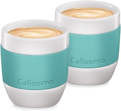 Tchibo Espressobecher/Tasse Cafissimo, 2er Set aus Porzellan mit Silikonmanschette