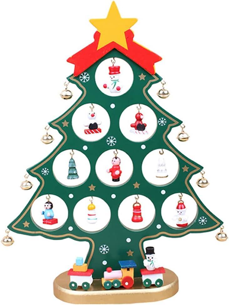 Lnrueg Wooden online shopping Christmas Tree Mini Funny DIY Sma inch 10 Festival Super-cheap