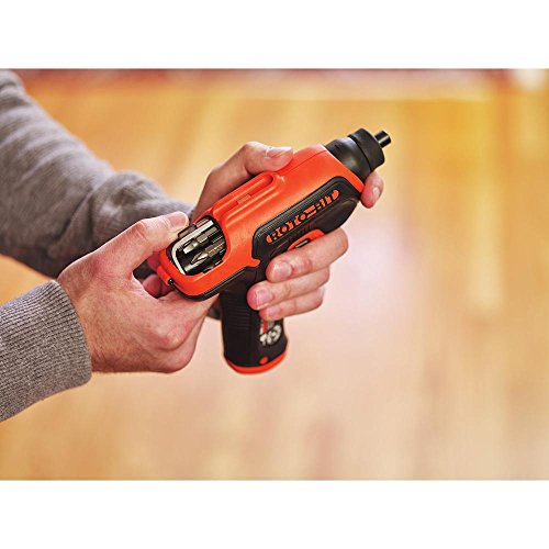 BLACK+DECKER 4V MAX Cordless Screwdriver with Bit Storage (BDCS50C),Orange